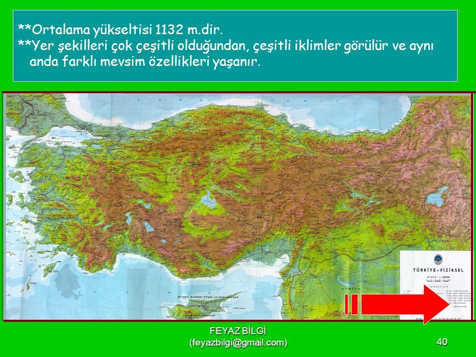 FEYAZ BİLGİ (feyazbilgi@gmail.com)39 ***Üç tarafı denizlerle çevrili bir yarımadadır.