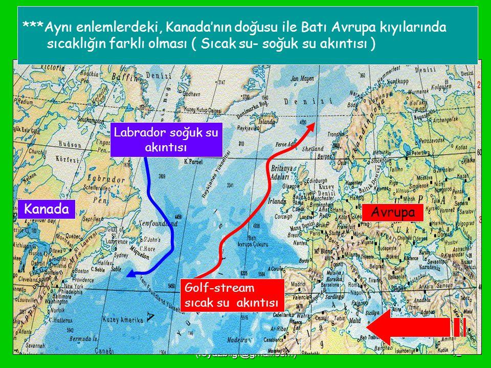 FEYAZ BİLGİ (feyazbilgi@gmail.com)41 ***Karadeniz bölgemizde turunçgil yetiştirilmesi, ***Dünyanın en önemli petrol kaynaklarına sahip olan Ortadoğu'ya yakın olması, ***Doğu Anadolu'nun yükseltisi en fazla olan ve ortalama sıcaklığı da en az olan bölge olması