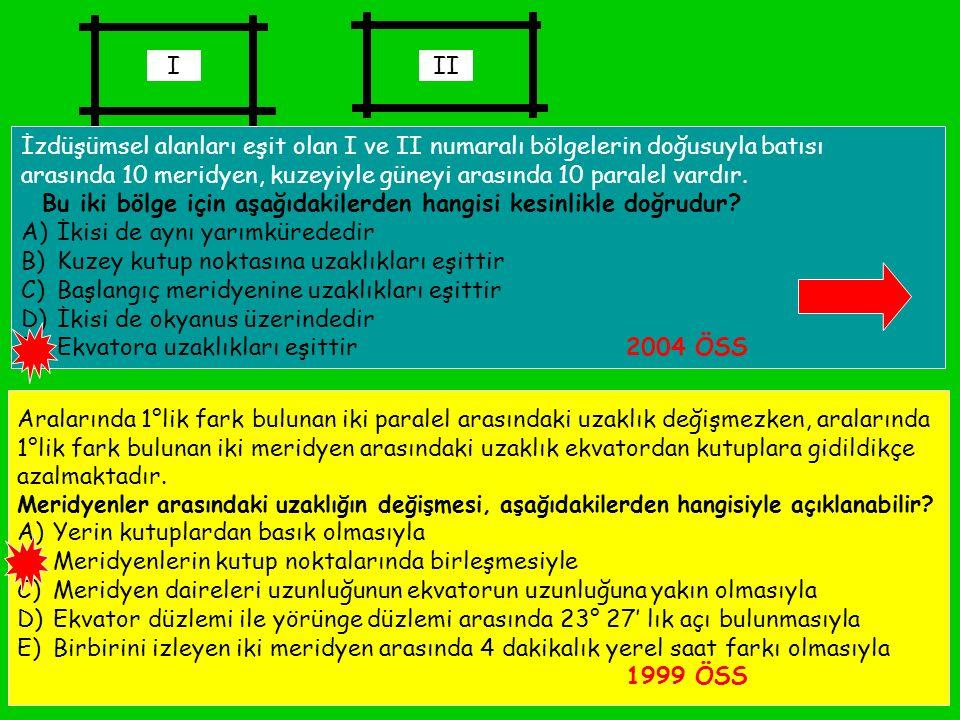 FEYAZ BİLGİ (feyazbilgi@gmail.com)47 AB0CD BATIDOĞU ( A – B ) x 4 d ( D – C ) x 4 d ( B + C ) x 4 d Hesaplama yapılırken; ** ikisi de doğuda veya ikisi de batıda ise : Boylamı büyük olandan küçük olan çıkarılır ve 4 ile çarpılarak zaman farkı bulunur.