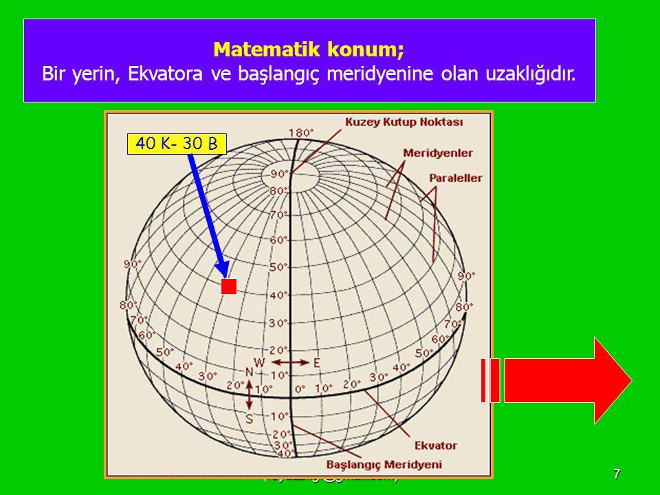 FEYAZ BİLGİ (feyazbilgi@gmail.com)27 Tarih değiştirme çizgisi, 180 derece meridyenidir..