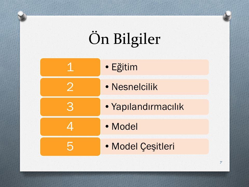 Ön Bilgiler Eğitim 1 Nesnelcilik 2 Yapılandırmacılık 3 Model 4 Model Çeşitleri 5 7