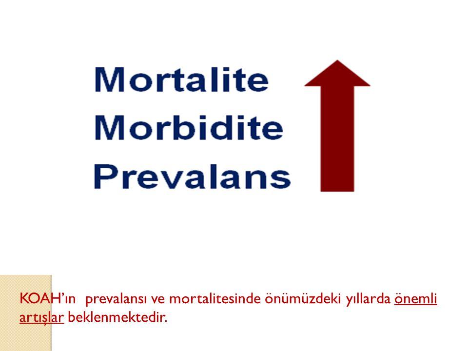 KOAH'ın prevalansı ve mortalitesinde önümüzdeki yıllarda önemli artışlar beklenmektedir.