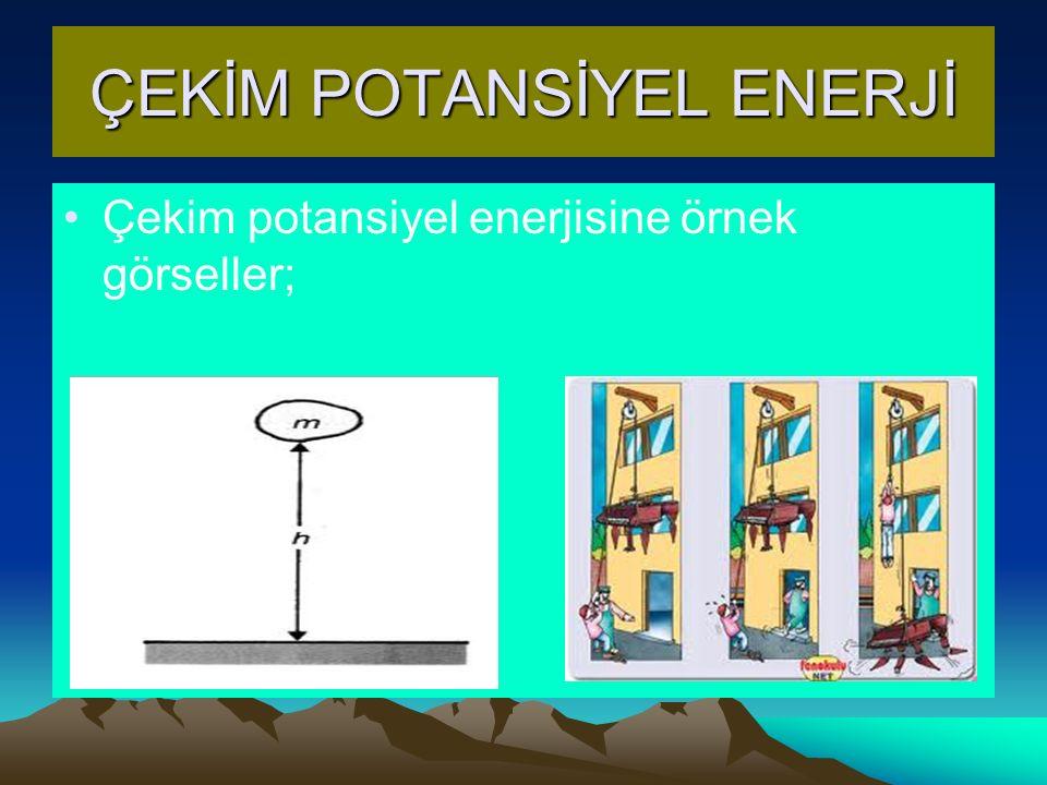 ÇEKİM POTANSİYEL ENERJİ Çekim potansiyel enerjisine örnek görseller;