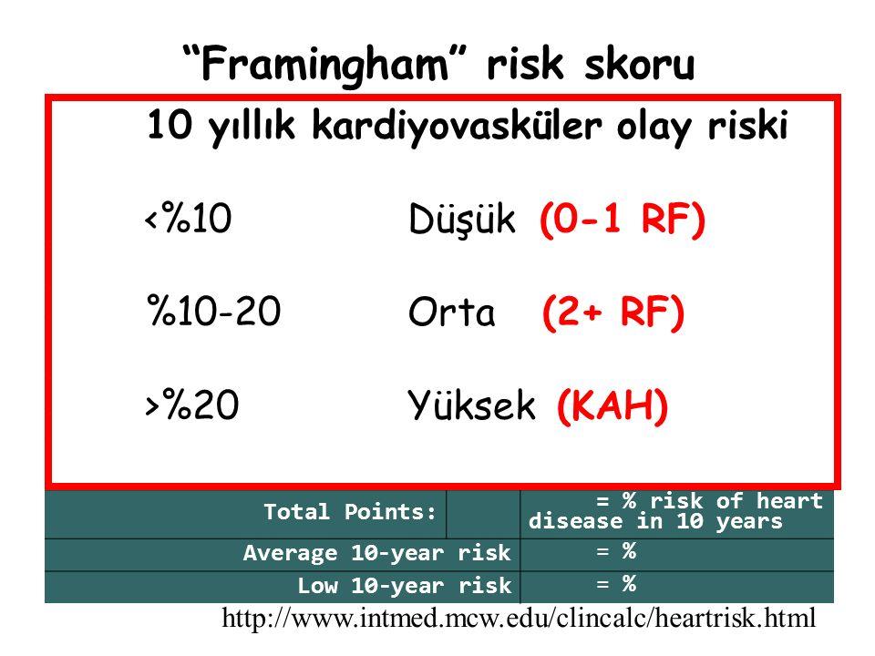 Koroner arter hastalığı HT Risk DüzeyiLDL (Hedef) Yüksek<100 mg/dl Orta<130 mg/dl Düşük<160 mg/dl T.Kolesterol:250 mg/dl LDL:162 mg/dl TG:200 mg/dl HDL: 38 mg/dl