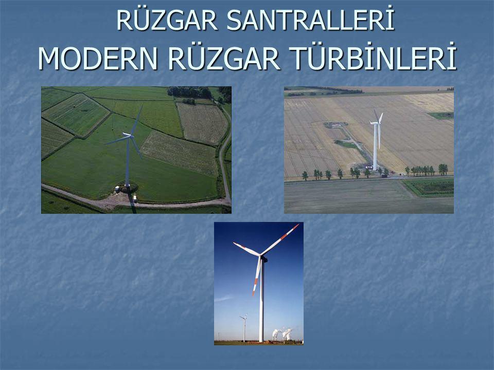 RÜZGAR TÜRBİNİ BİLEŞENLERİ Generatör Rüzgar Gülü Anemometre Radyatör Dişli Kutusu Mekanik Fren Kontrol Ünitesi Ana Şaft Rotor Yaw (Rota) Dişlisi Kule