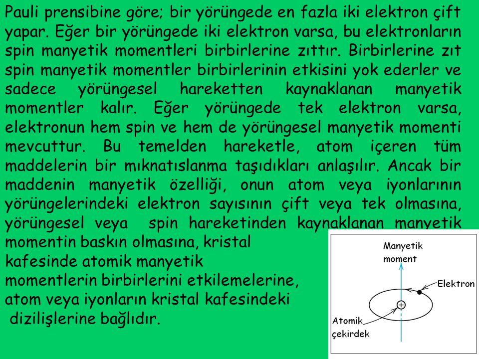 Mağnetik moment a) bir çift mağnetik kutup (Şekil 2.4) göz önüne alınarak tanımlanabilir.
