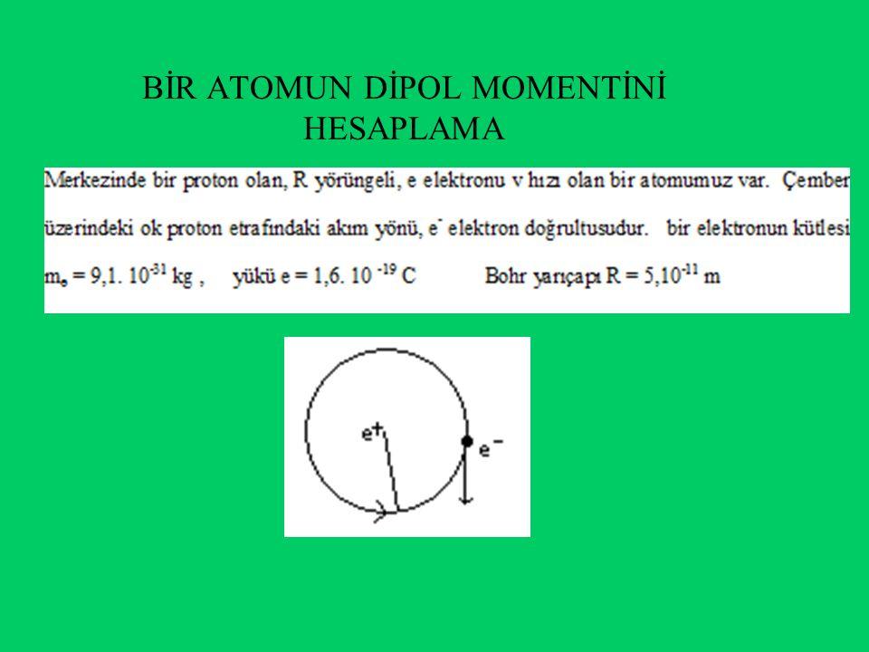 b) Bir elektrik akımının telin etrafında bir mağnetik alan oluşturdu bilinmektedir.