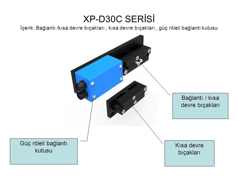 XP-D30C SERİSİ İçerik: Bağlantı /kısa devre bıçakları, kısa devre bıçakları, güç röleli bağlantı kutusu Güç röleli bağlantı kutusu Kısa devre bıçaklar