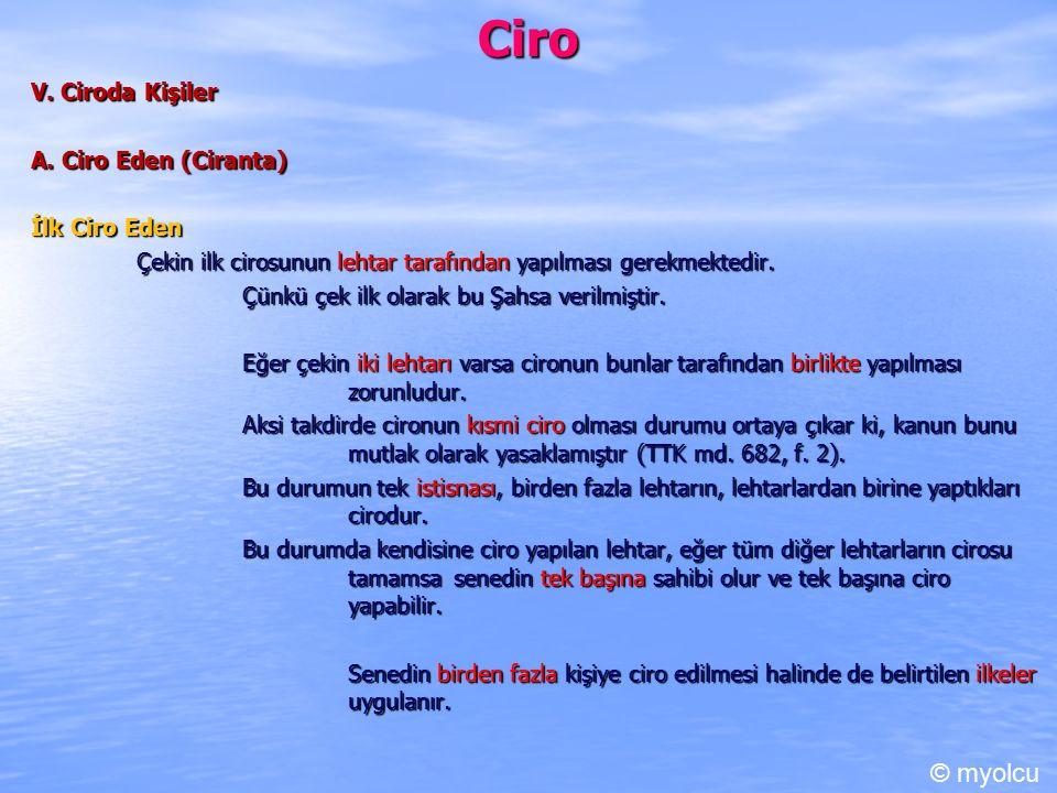 Ciro V.Ciroda Kişiler A.