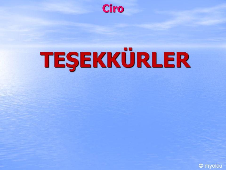 Ciro TEŞEKKÜRLER