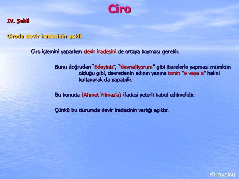 Ciro C.Teminat Fonksiyonu Cironun teminat fonksiyonu TTK md.