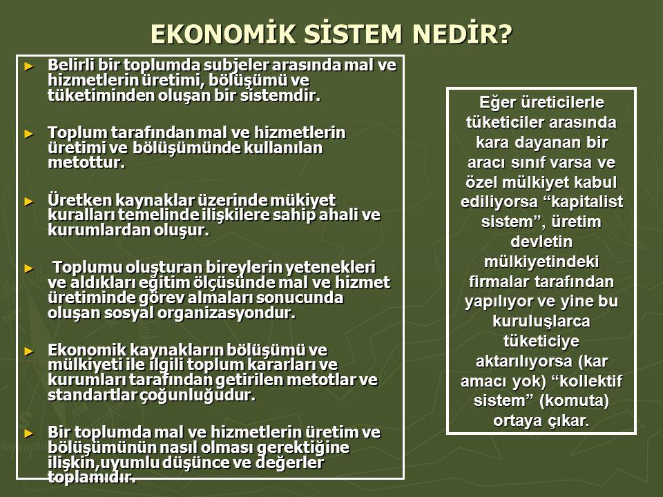 EKONOMİK SİSTEM NEDİR.