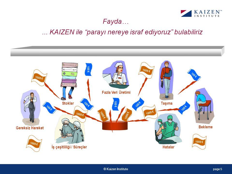 © Kaizen Institute...Yönetim, doktor, hemşireler arasında kötü iletişim...