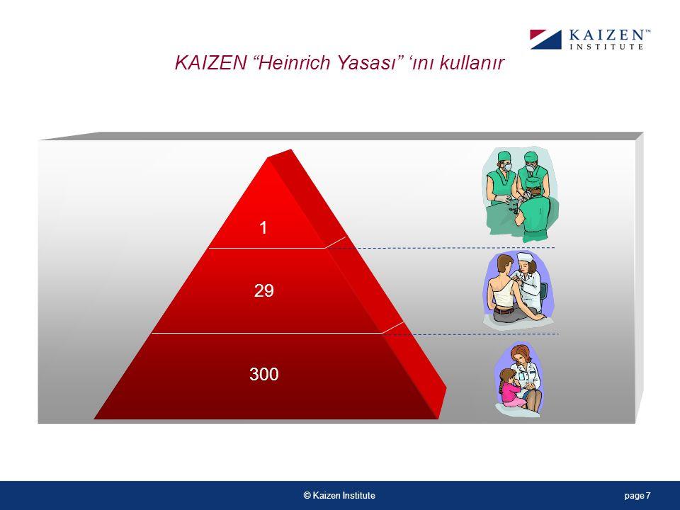 © Kaizen Institute 1 29 300 KAIZEN Heinrich Yasası 'ını kullanır page 7
