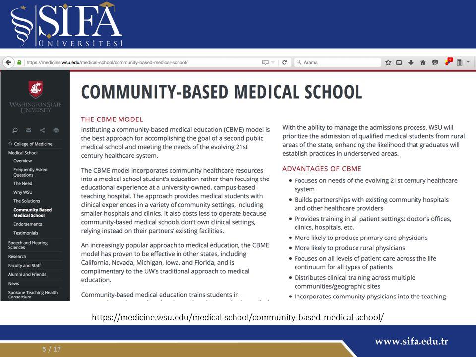 Topluma Dayalı – Toluma Yönelik Topluma Dayalı Tıp Eğitimi (TDTE) – Tıp eğitiminin üniversite hastanesi veya büyük 2.