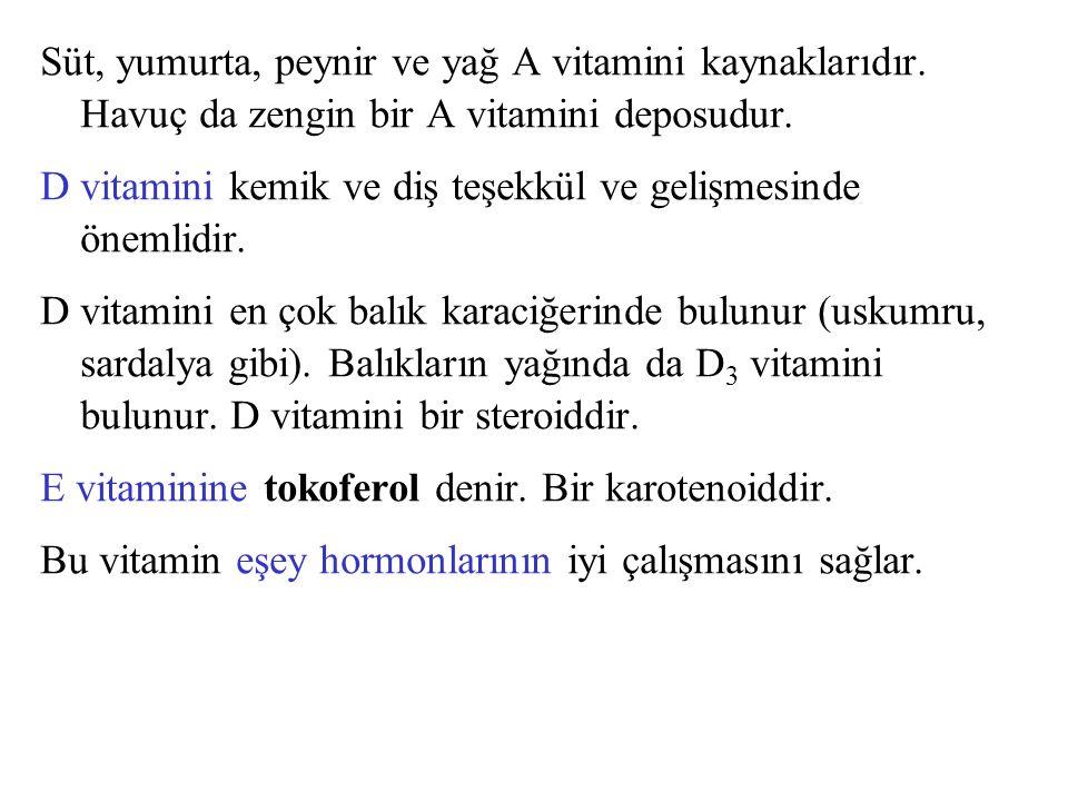 K vitamininin fillokinon (K 1 ) ve farnokinon (K 2 ) tipleri vardır.