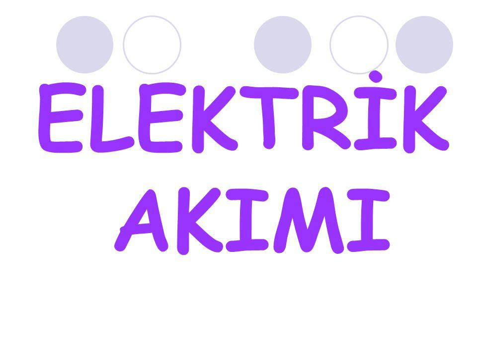 elektrik akımı denir.Elektrik akımı bir elektron hareketidir.Bunun oluşması için düzenli elektron üreten ve pompalayan pil,akü veya elektrik santralleri gibi üreteçlere ihtiyaç vardır.