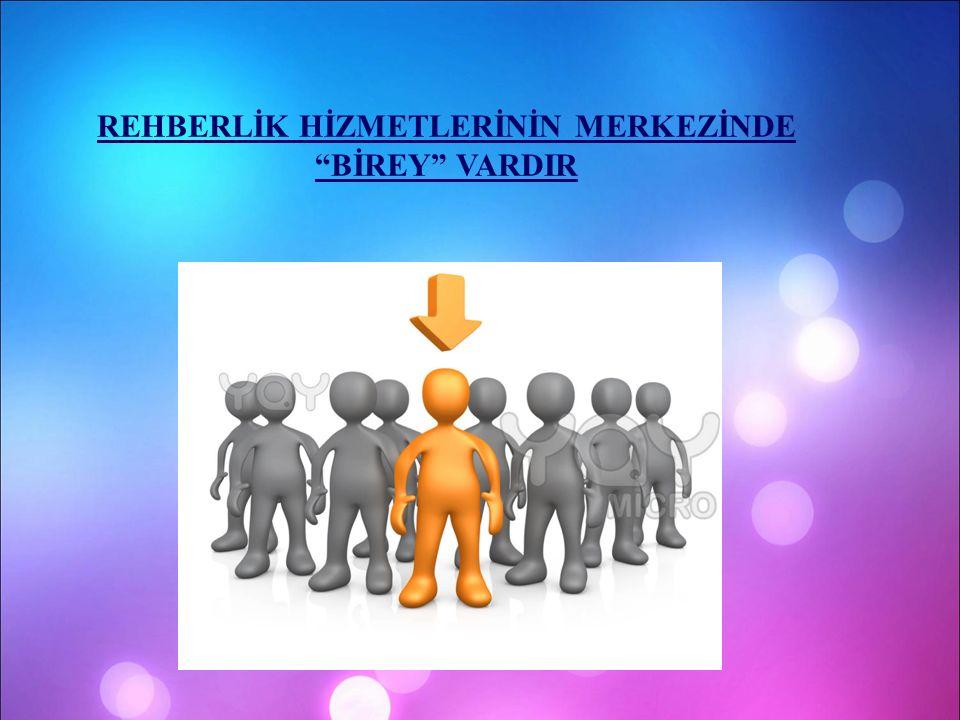 """REHBERLİK HİZMETLERİNİN MERKEZİNDE """"BİREY"""" VARDIR"""
