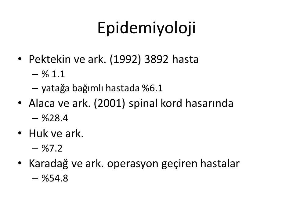 Epidemiyoloji Pektekin ve ark.