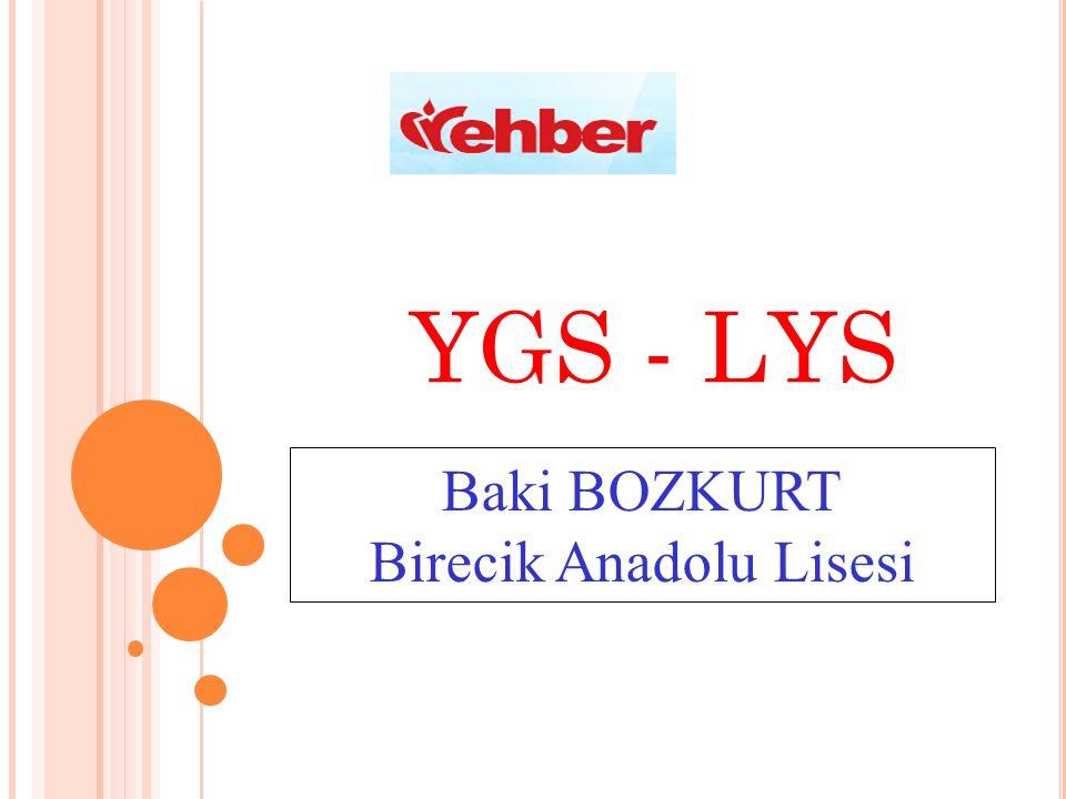YGS - LYS Baki BOZKURT Birecik Anadolu Lisesi