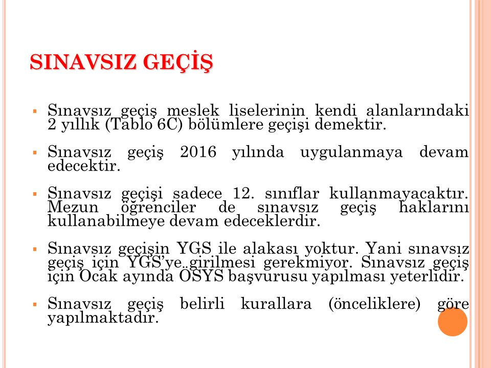 YGS SINAVINA KİMLER GİRECEK .