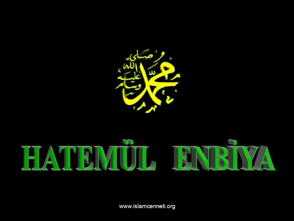 www.islamcenneti.org Madem ki O nur, yaratılmışların ilkidir, O na Hüda yı takip eden desem mâzurum! ŞEYH GALİP