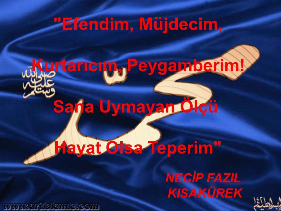 www.islamcenneti.org Efendim, Müjdecim, Kurtarıcım, Peygamberim.