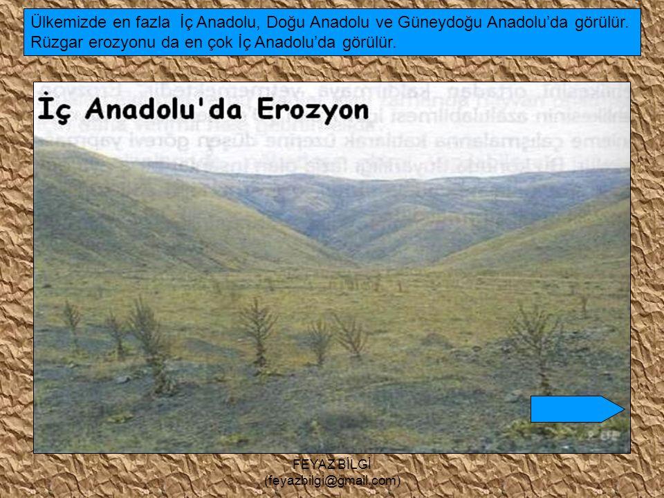 FEYAZ BİLGİ (feyazbilgi@gmail.com) Erozyon, verimli tarım alanlarını daraltır. Barajların ömrünü kısaltır.