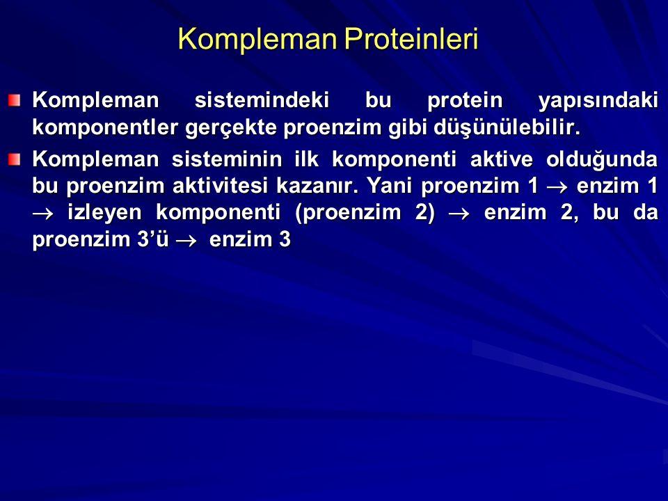 Kompleman Sistemi Kompleman proteinleri Normalde plazma da inaktif haldedir. Etkinliği için C fiksasyonu ve aktivasyonu gerekli Dolayısıyla aktivatör