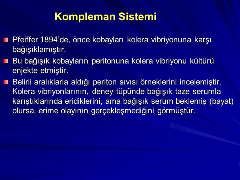 Kompleman Sistemi Tarihçe Kompleman sisteminin tanınması, ilk olarak 1888'de Nuttal ile başlamıştır. Memelilerin taze plazma ya da serumunun bazı bakt