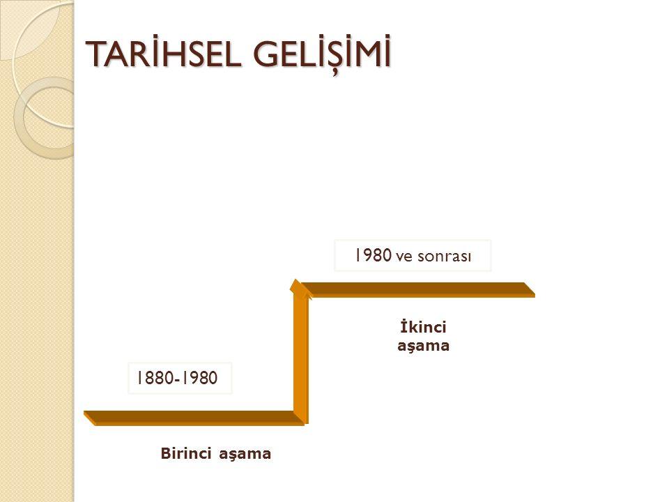 TAR İ HSEL GEL İ Ş İ M İ 1880-1980 İkinci aşama Birinci aşama 1980 ve sonrası