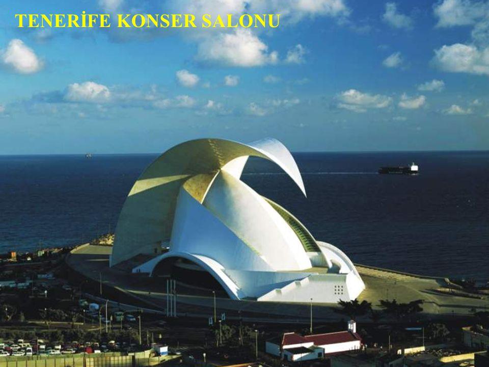 Taş ve betondan oluşan bir teknoloji harikası Tenerife Senfoni Orkestrası binası