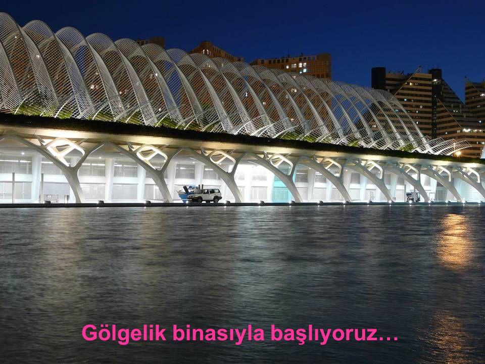 Söz konusu olan Valencia Sanat ve Bilim Sitesi. Bu benden bir parça saydığım kentime armağanımdır.