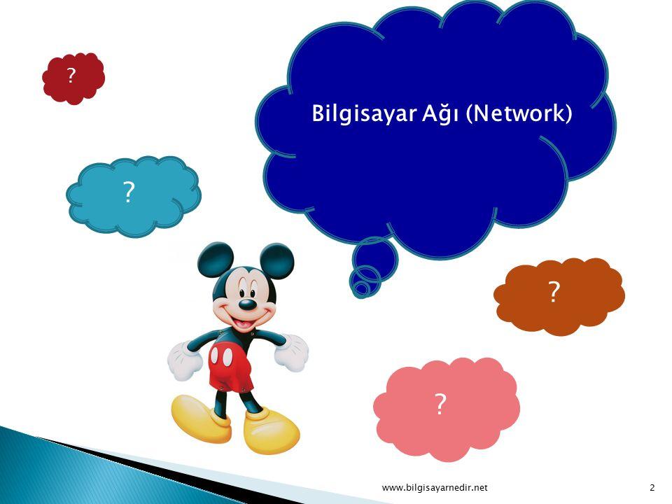 Bir bilgisayar ağı, iki veya daha fazla bilgisayarın bir iletişim aracı üzerinden(kablolu veya kablosuz), tüm iletişim, yazılım ve donanım bileşenleri ile birlikte bağlanarak meydana getirilen sistem olarak tanımlanabilir.