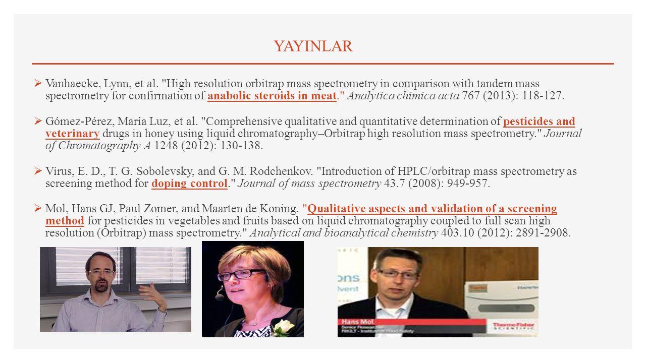 YAYINLAR  Vanhaecke, Lynn, et al.