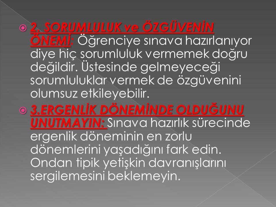  2.SORUMLULUK ve ÖZGÜVENİN ÖNEMİ  2.