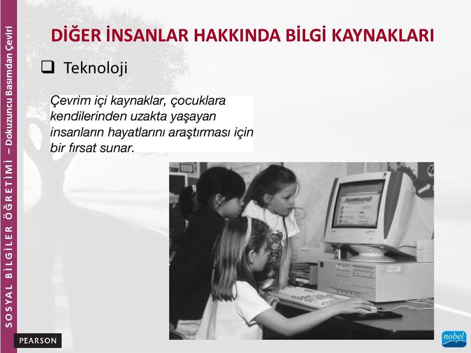 DİĞER İNSANLAR HAKKINDA BİLGİ KAYNAKLARI  Teknoloji
