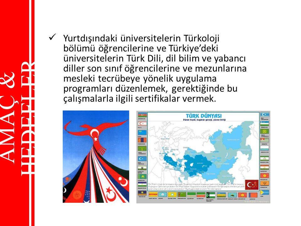 Yurtdışındaki üniversitelerin Türkoloji bölümü öğrencilerine ve Türkiye'deki üniversitelerin Türk Dili, dil bilim ve yabancı diller son sınıf öğrencil