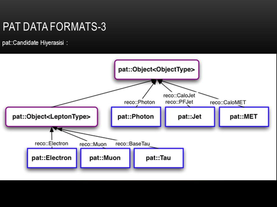 PAT DATA FORMATS-3 pat::Candidate Hiyerasisi :