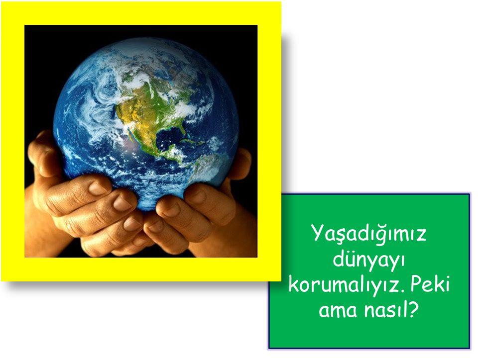 Yaşadığımız dünyayı korumalıyız. Peki ama nasıl?