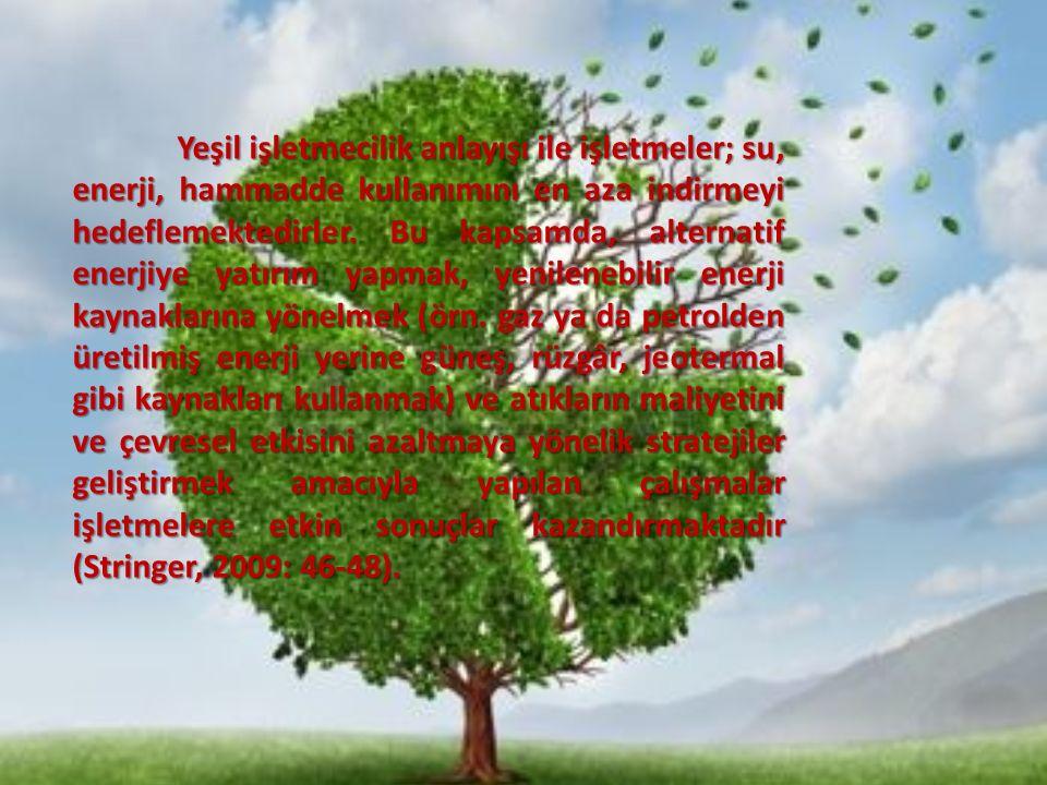 Yeşil işletmecilik (çevreye duyarlı işletmecilik), ekolojik çevreyi karar alma süreçlerinde önemli bir unsur olarak dikkate alan, faaliyetlerinde çevreye verilen zararı minimuma indirmeyi veya tamamen ortadan kaldırmayı amaç edinen, bu çerçevede, ürünlerinin tasarımını ve paketlemesini, üretim süreçlerini değiştiren, ekolojik çevrenin korunması felsefesini işletme kültürüne yerleştirmek için çabalayan, sosyal sorumluluk kapsamında topluma karşı görevlerini yerine getiren işletmelerin benimsediği bir anlayıştır.