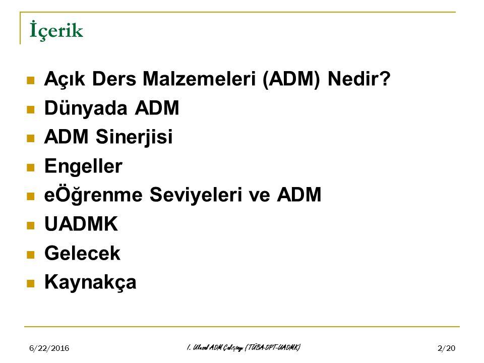 6/22/2016 I.Ulusal ADM Çalı ş tayı (TÜBA-DPT-UADMK) 3/20 ADM Nedir.
