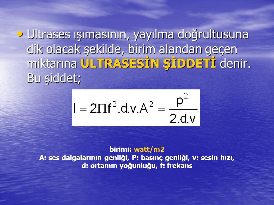Ultrases şiddetinin uzaklıkla değişimi r 1 ve r 2 yarıçaplı iki küresel ses dalgasının şiddetleri I 1 ve I 2 ve alanları A 1 ve A 2 ise her dalganın gücü: r 1 ve r 2 yarıçaplı iki küresel ses dalgasının şiddetleri I 1 ve I 2 ve alanları A 1 ve A 2 ise her dalganın gücü: P 1 = A 1.