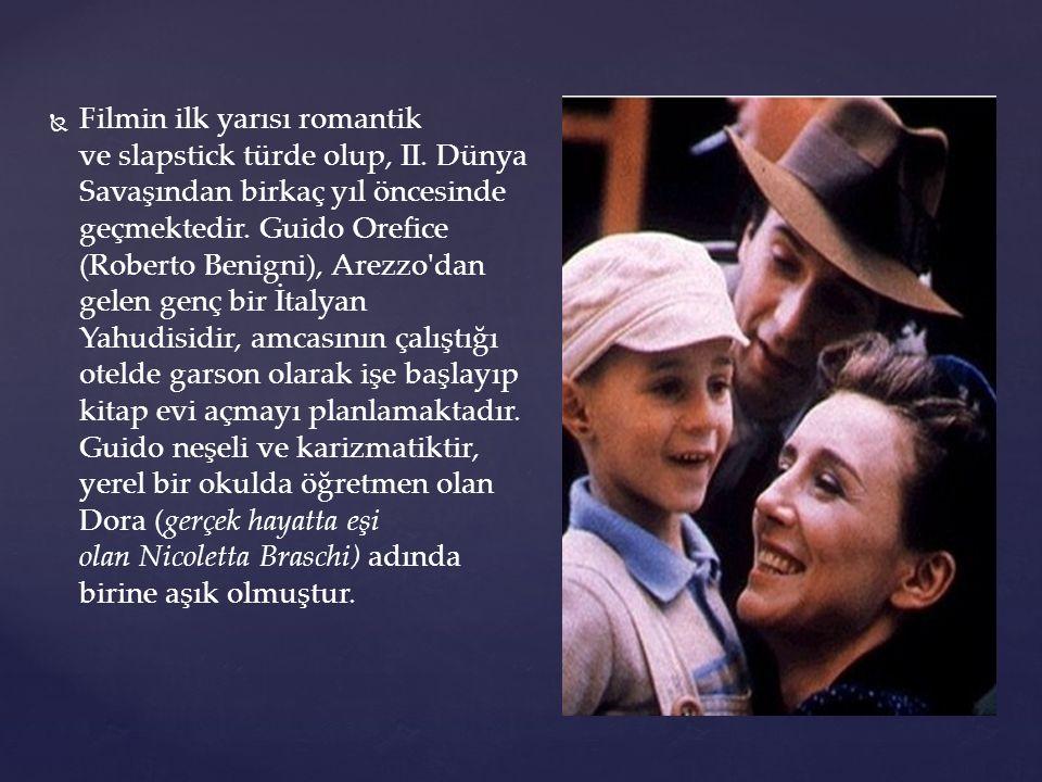   Filmin ilk yarısı romantik ve slapstick türde olup, II.