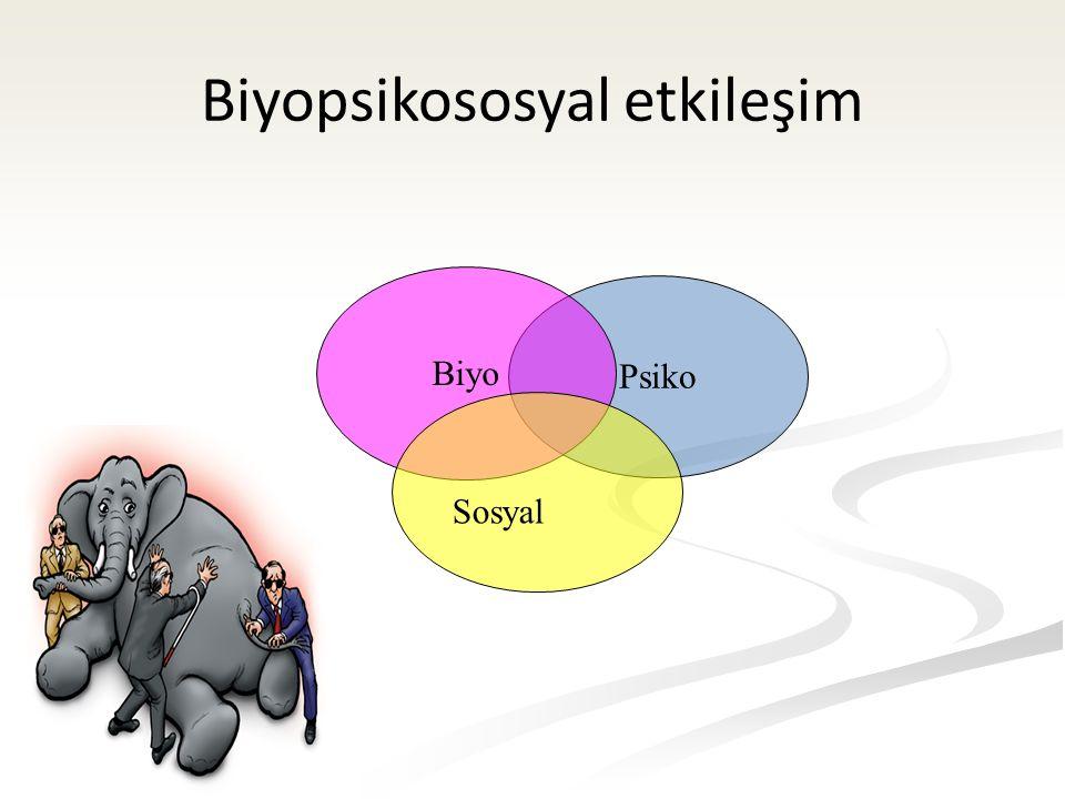 Biyopsikososyal etkileşim Psiko Biyo Sosyal