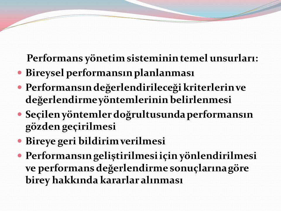Performans Yönetiminin Öncelikli Amaçları; Çalışanların kurum düzeyinde motivasyonlarını arttırmak.