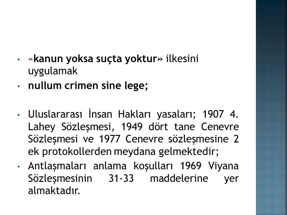 7.Maddenin uluslararası teamül hukukuna dahil olduğu durumlar İlk olarak, 7.