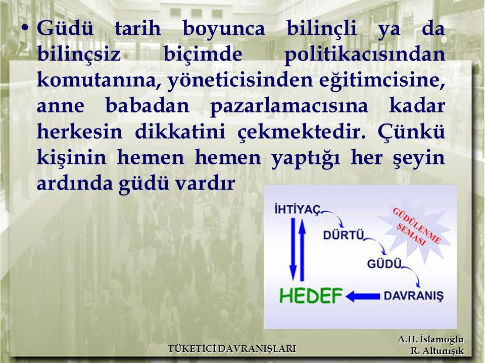 A.H. İslamoğlu R. Altunışık Güdü tarih boyunca bilinçli ya da bilinçsiz biçimde politikacısından komutanına, yöneticisinden eğitimcisine, anne babadan