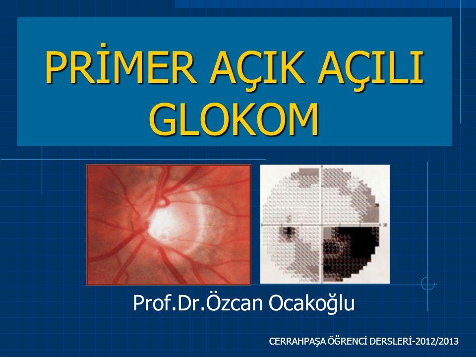 CERRAHPAŞA ÖĞRENCİ DERSLERİ-2012/2013 PRİMER AÇIK AÇILI GLOKOM Prof.Dr.Özcan Ocakoğlu