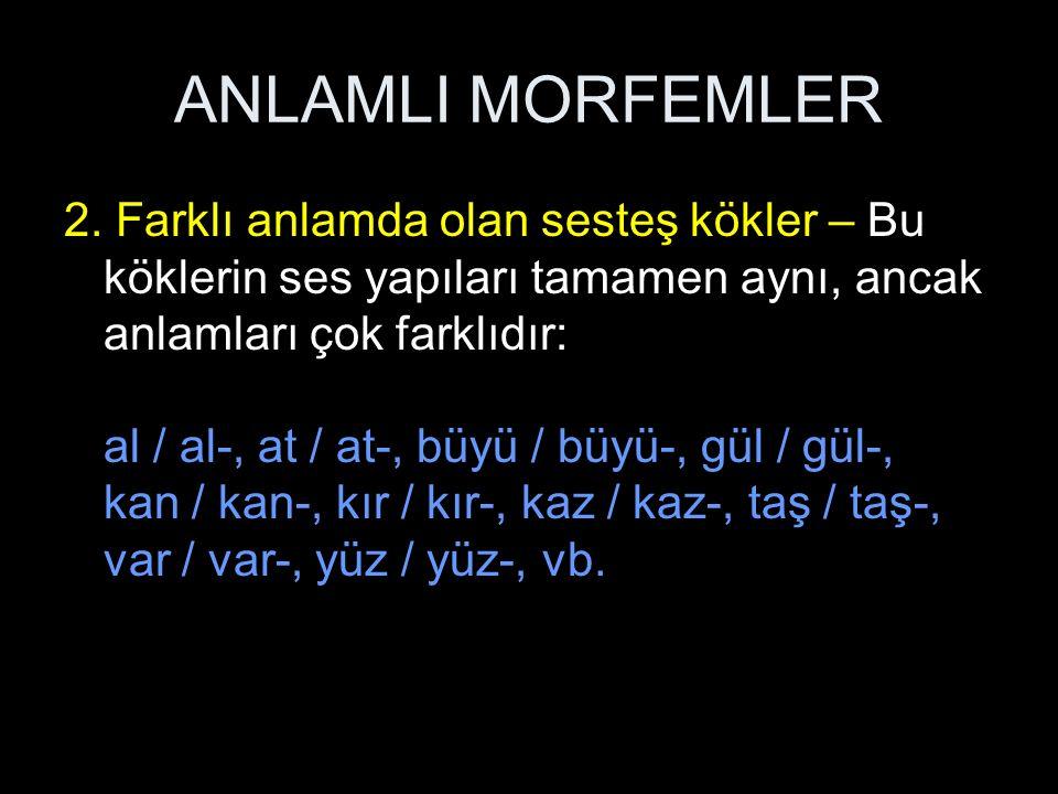 ANLAMLI MORFEMLER 2.